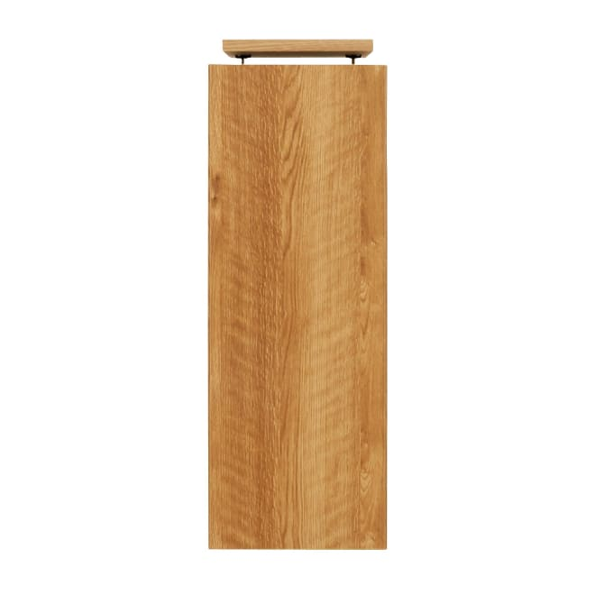 天然木調リビング壁面収納シリーズ オーダー対応突っ張り式上置き(1cm単位) 幅29cm・高さ60~90cm