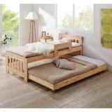 ひのきが香る天然木 親子すのこベッド 上下段親子ベッド 写真