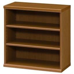 色とサイズが選べるオープン本棚 幅59.5cm高さ60cm (ウ)ブラウン