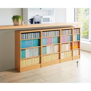 色とサイズが選べるオープン本棚 幅28.5cm高さ88.5cm 写真