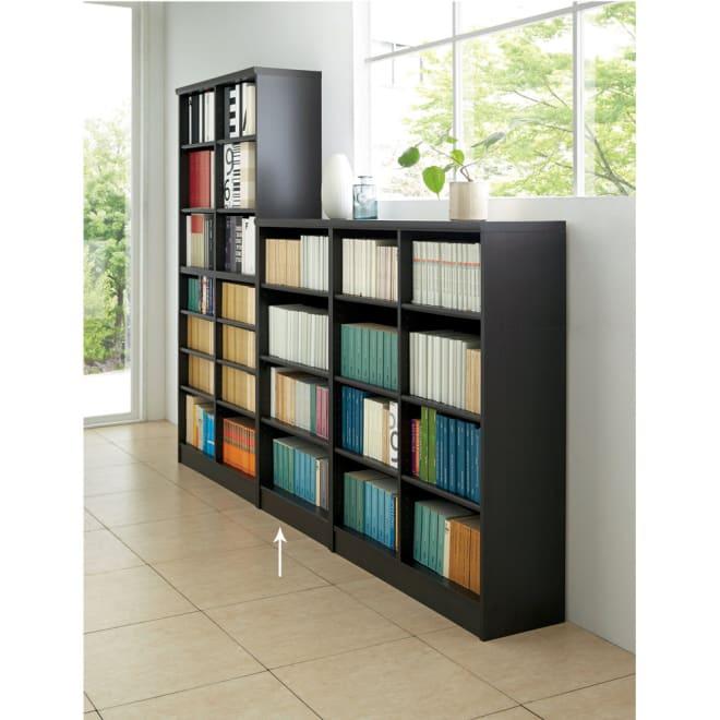 色とサイズが選べるオープン本棚 幅59.5cm高さ117cm (エ)ダークブラウン