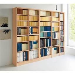 色とサイズが選べるオープン本棚 幅44.5cm高さ178cm 使用イメージ(ア)ライトナチュラル