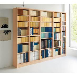 色とサイズが選べるオープン本棚 幅86.5cm高さ178cm 写真