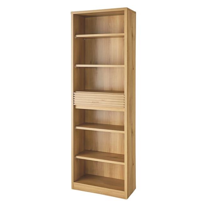 【完成品】木目が美しい引き出し付き本棚 オープンタイプ 幅60cm
