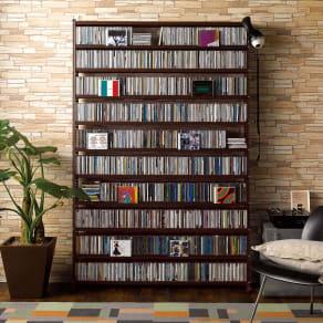 パンチングCDラック スタンド式(奥行27・高さ183cm)CD用 幅120.5cm 写真