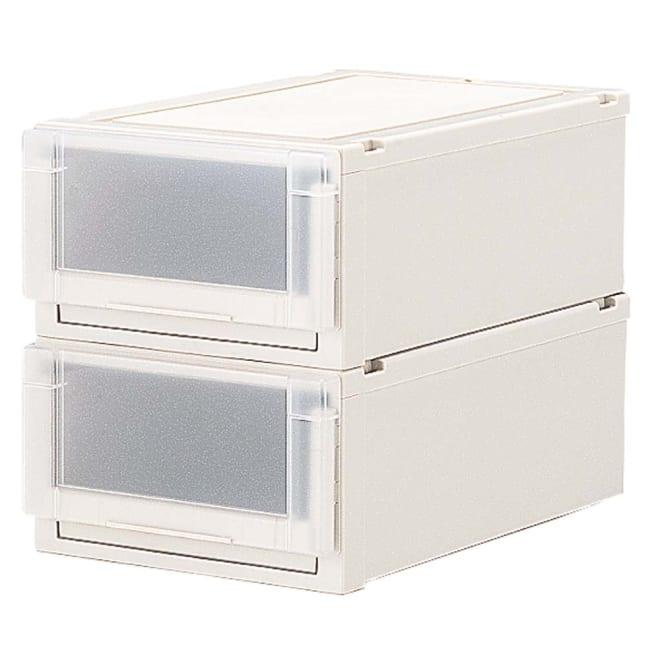 フィッツユニット(Fits unit)収納ケース2個組 【奥行55cmタイプ】幅35・高さ20cm プラスチック製収納ケースの定番といえばフィッツ。多様なサイズ展開と使いやすいさが人気です。