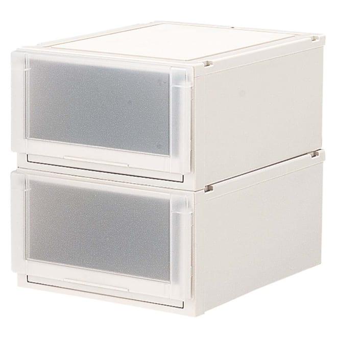 フィッツユニット(Fits unit)収納ケース2個組 【奥行55cmタイプ】幅45・高さ25cm プラスチック製収納ケースの定番といえばフィッツ。多様なサイズ展開と使いやすいさが評判です。