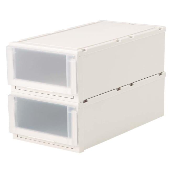 フィッツユニット(Fits unit)収納ケース2個組 【奥行74cmタイプ】幅39・高さ23cm プラスチック製収納ケースの定番