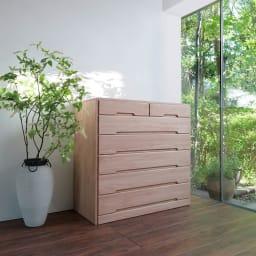 自分仕様に造れる 総桐ユニット箪笥 衣類収納箪笥6段 上質で美しい和モダン空間が演出できます。