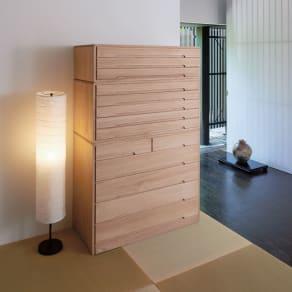 自分仕様に造れる 総桐ユニット箪笥 着物収納箪笥3段 写真