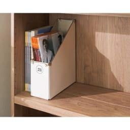 想いを集める 推し活グッズ収納庫  オープン ハイ 幅60cm 前後の高さをそろえれば、奥行のある写真集や会報誌、パンフレットの収納もOK。