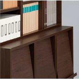 奥行39cm マガジン&レコードキャビネット ベース 段違い棚オープンタイプ3列[高さ85・幅113cm] 奥行を変えることで、多彩なアレンジが楽しめます。
