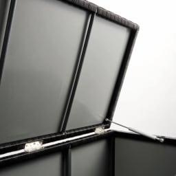 ラタン調コンパクトシリーズ〈ブラウン〉 薄型ベンチ幅60 全面裏側がポリプロピレン貼りで雨が入りにくい仕様。