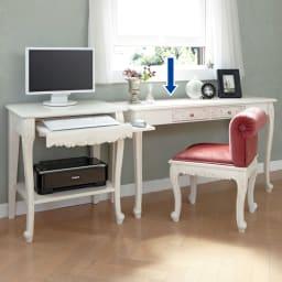 アンティーククラシックシリーズ アンティーク風コンソールテーブル(机) 同シリーズのチェアとの組み合わせがおススメ。