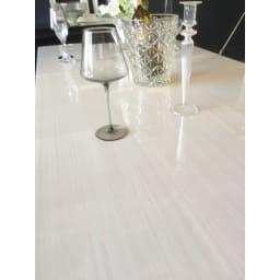 光沢が美しい 伸長式 モダンダイニング お得な4点セット(ダイニングテーブル+チェア2脚+ベンチ大)