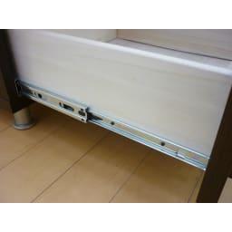 和モダン 格子リビング収納シリーズ テレビ台 幅150cm 引き出しはフルスライドレールでスムーズに動かせます。