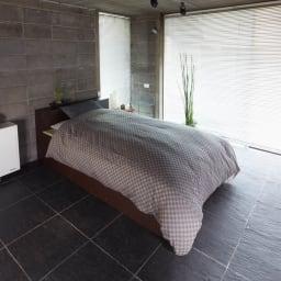 ユニット畳シリーズ ベッドセット 幅120奥行215cm 高さ45cm(本体高さ70cm) ≪使用イメージ≫ お布団を敷いてお使いいただけます。