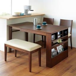 伸長式ダイニングシリーズ 伸長テーブル 大 (伸長時) ※写真はテーブル小(幅100cm)です。