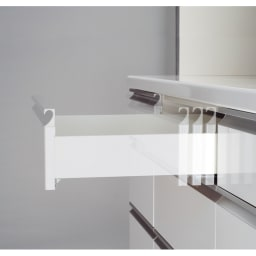 ハイカウンターダイニング ガラス扉タイプ ハイカウンターボード W160D45H203/パモウナ JQL-S1600R JQR-S1600R 引出しはゆっくり静かに閉まるサイレントレール。