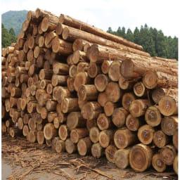 国産杉の飾る無垢材キッチン収納 キッチンワゴン 幅107奥行45cm (ラック幅119cm用) こだわりの国内生産 素材を知り尽くした原産地の地場工場の熟練職人が丁寧に仕上げています。
