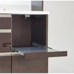 高機能 モダンシックキッチンシリーズ キッチンボード 幅120高さ178cm(カウンター高さ85cm) 家電収納部はスライドして手前に出るので蒸気の出る家電も使いやすく。