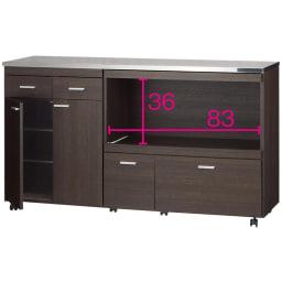 家電たっぷり収納ステンレス天板カウンター 幅149.5cm ※オープン部奥行内寸(単位:cm)=40