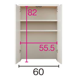 組み合わせ自在の薄型人工大理石天板カウンター 扉タイプ幅60cm