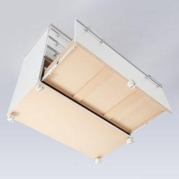 収納しやすいステンレストップカウンター 家電収納タイプ幅89cm