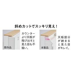 狭いカウンター天板下にもすっきり納まる収納庫シリーズ 引き出し 幅44cm(高さ70cm/高さ85cm)