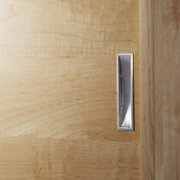 1cmピッチで棚板調整カウンター下引き戸収納庫 幅150cm(4枚扉) 奥行21.5cm・高さ90cm (イ)ナチュラル