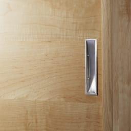 1cmピッチで棚板調整カウンター下引き戸収納庫 幅120cm(4枚扉) 奥行30cm・高さ90cm (イ)ナチュラル