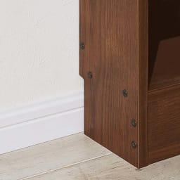 高さサイズオーダー奥行15cmオープンカウンター 1列 幅46高さ60~100cm 幅木カット(8×1cm)付きなので壁にぴったりつけて設置できます。