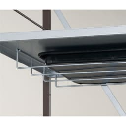 大型レンジ対応レンジラック ペール2分別ゴミ箱付き レンジ皿などの収納に便利な棚付き。