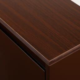 カラフルなペールでわかりやすく分別できる スチール製ダストボックス 幅60cm 高さ95cm (イ)ブラウン 天板はお部屋になじむ天然木調のメラミンシート仕様。