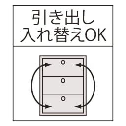 光沢仕上げ内部化粧チェスト 幅40cm・奥行30cm 引き出し入れ替えOK