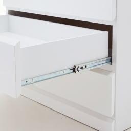光沢仕上げ内部化粧チェスト 幅50cm・奥行30cm 奥まで引き出せるフルスライドレール。