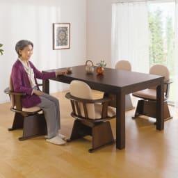 【長方形】幅105cm奥行80cm ダイニングこたつテーブル【高さ調節できます】 テーブル高さ70cm 通常のダイニングテーブルの高さです。