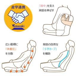 GOOD DESIGN受賞 ZAGUN/ザグーン フレックスチェア 人間の背骨と重力の関係に着目。産学共同研究で理想的な座り姿勢を追求。