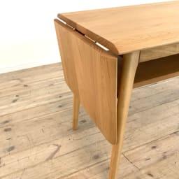 天然木伸長式センターテーブル 高さ60cm 天板折りたたみ時