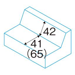 シンプルスタイルコーナーソファ 2人掛けソファ・幅135cm 座面奥行・背高さ(約・cm) ( )はクッション取り外し時