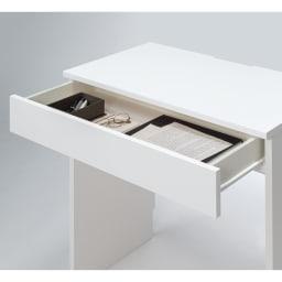 テレワークにも最適 ラインスタイルハイタイプテレビ台シリーズ デスク・幅90cm 引き出しはスライドレール付き。