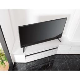 コーナーテレビ台壁面収納シリーズ 幅150cmTV台左壁設置用 テレビが見やすいコーナー専用