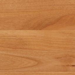 移動しやすいキャスター付きアルダー天然木 キャビネット収納・幅135.5cm (ア)ライトブラウン板見本