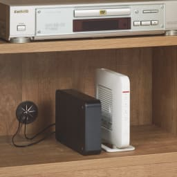 リビングギャラリーシリーズ テレビ台 幅70cm 扉部は3cm間隔の可動棚とコード穴付き。モデムやルーターの収納に便利。