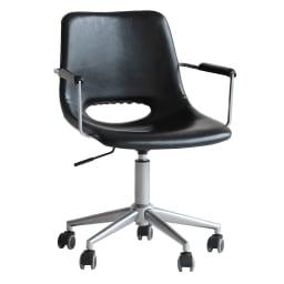 モダンデザインワークチェア アーム付き 座部下のレバーで、座部高の調整が可能です。