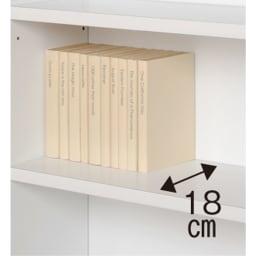 天井突っ張り式壁面ラック 扉タイプ上置き付き 幅90奥行22本体高さ235cm 内寸奥行は18cm。