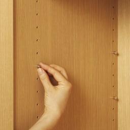 【高さサイズオーダー】 プッシュ扉リビングキャビネット 扉タイプ 幅58高さ40~120奥行32cm 棚板は3cm間隔で調節。ダボは金属製。