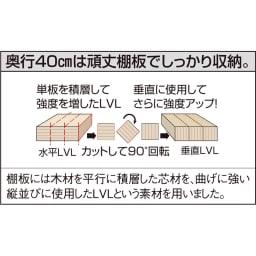 光沢仕様 引き戸壁面収納本棚 幅90奥行40突っ張り上置き高さ55~70(本体52)cm 棚板は頑丈仕様。1枚あたりの耐荷重約20kgで、頑丈仕様。