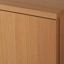 【完成品】リビングブックキャビネット 幅115.5奥行35高さ80cm (イ)ライトブラウン