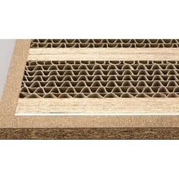 頑丈棚板がっちり書棚(頑丈本棚) ロータイプ 幅60cm 棚板にハニカム構造とアルミ枠を採用!更に「LVL」の芯材を追加して耐荷重40kgを実現! 棚板は、単板を積層して強度を増したLVLと、耐久性の高いハニカム構造による頑強仕様。さらにアルミ材で補強。